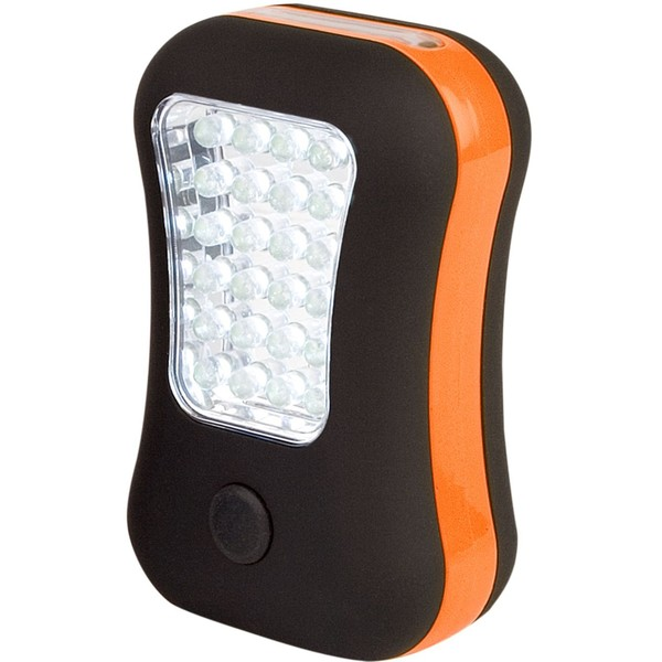 Abbey Camp camping LED lamp oranje-zwart 10 x 6,5 x 3,5 cm