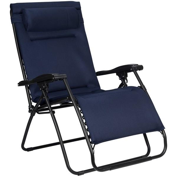 Abbey campingstoel Chaise Longue 90 x 75 x 112 cm marineblauw