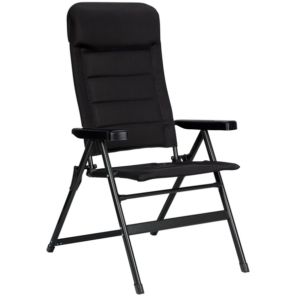 Abbey campingstoel Tall 84 x 64 x 120 cm zwart