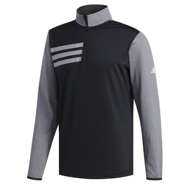 adidas 3 stripes competitie golftrui heren zwart maat XS
