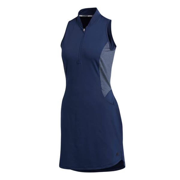 adidas golfjurkje knit dames donkerblauw maat L