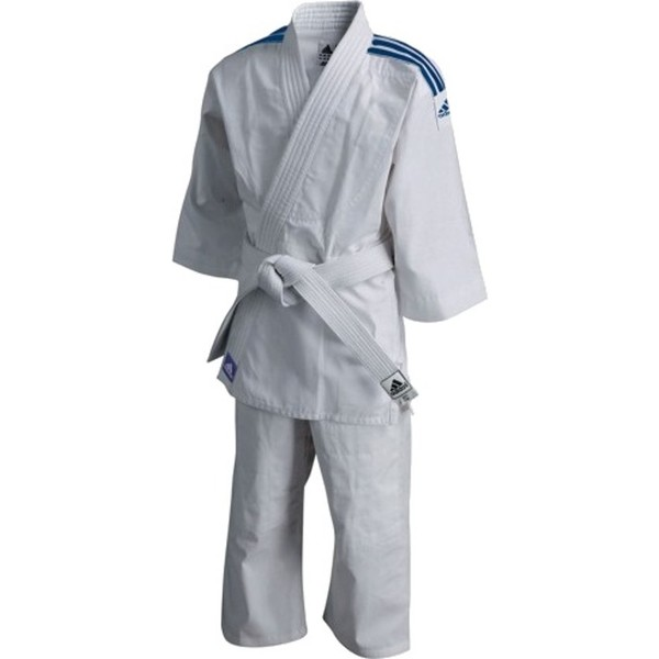 adidas judopak 200 Evolution 140 150 cm wit blauw