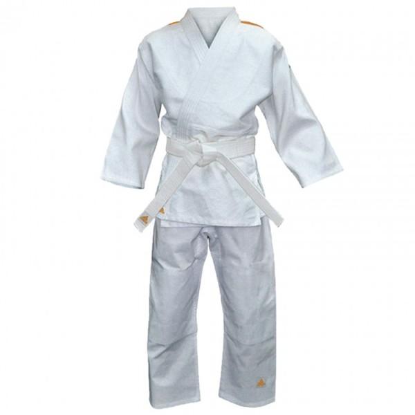 adidas judopak Evolution II wit-oranje 140 150 cm