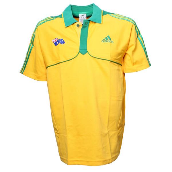 adidas polo Australië geel heren maat XS-S