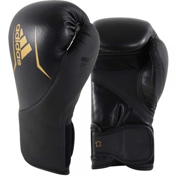 adidas Speed 200 bokshandschoenen zwart-goud maat 14 oz