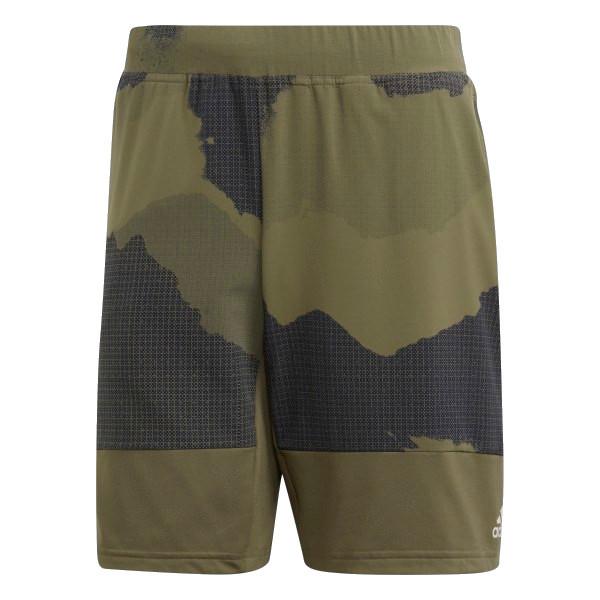 adidas sportbroek Tech 8 Inch Camouflage Graphic heren legergroen mt S