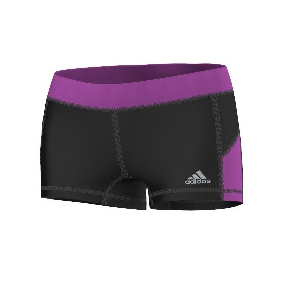 adidas sportbroek Techfit dames zwart-paars maat L