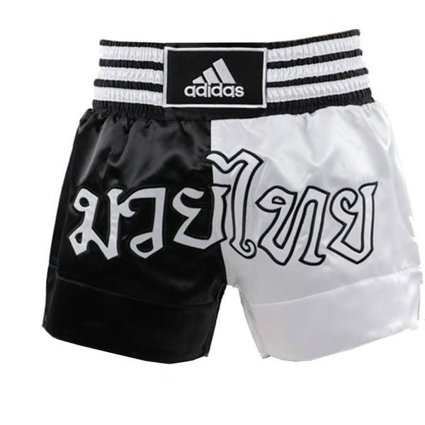 Adidas Thaiboksshort Half-Half Zwart-Wit