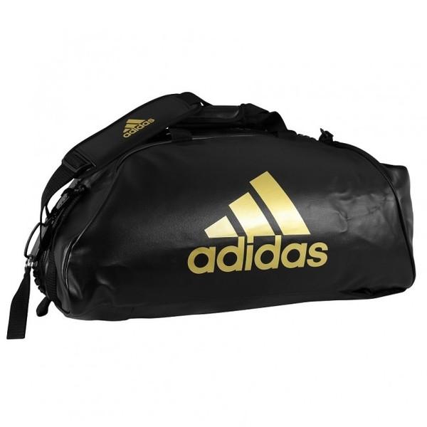 adidas training sporttas combat 2 in 1 zwart-goud 59 liter