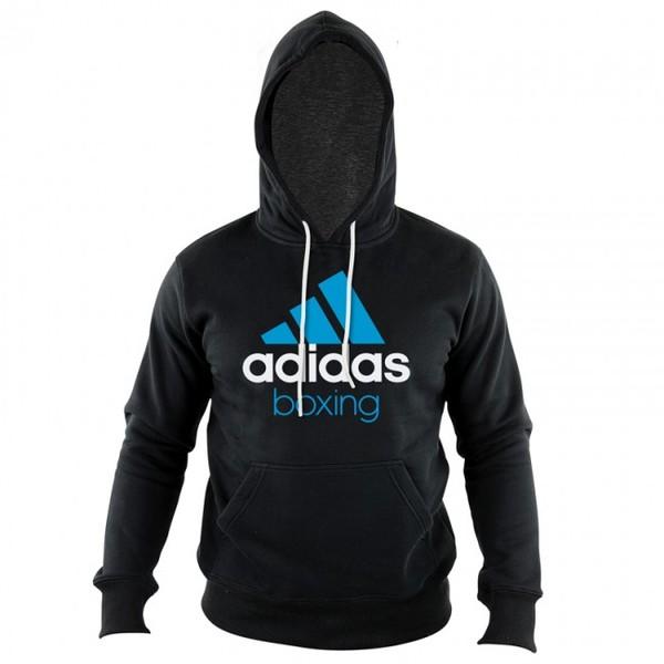 Adidas Community Junior Hoodie Zwart-Blauw