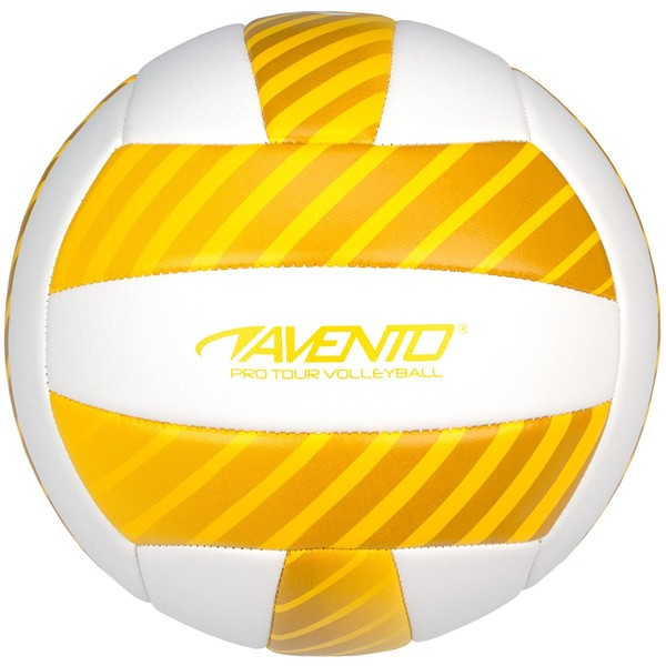 Avento beachvolleybal kunstleer maat 5 wit/geel