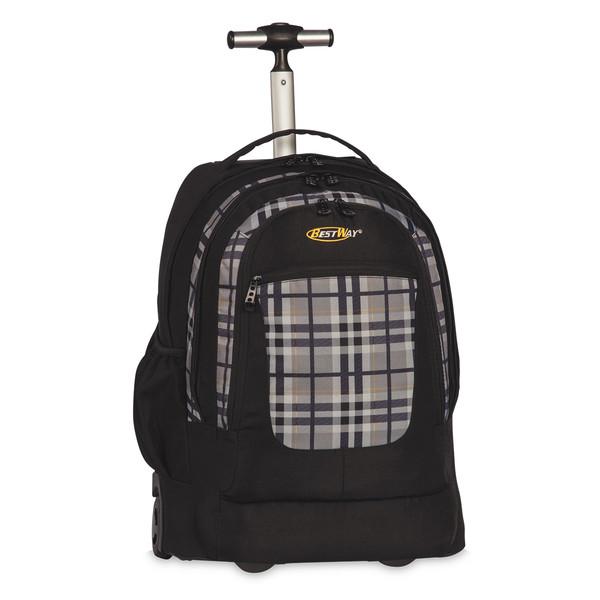 Bestway trolley rugzak zwart-grijs 35 liter