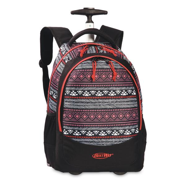 Bestway trolley rugzak zwart-rood 25 liter