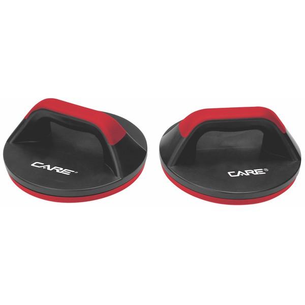 Care Fitness opdruksteunen Push up bar 2 stuks zwart-rood