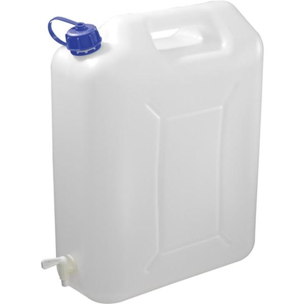 Carpoint Water jerrycan met kraan 20 liter kunststof wit