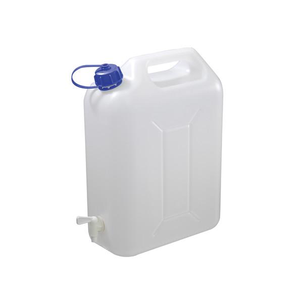 Carpoint Water jerrycan met kraan 10 liter kunststof wit