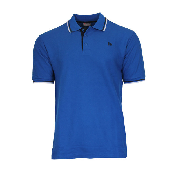 Donnay sportpolo Pique Tipped heren blauw maat M
