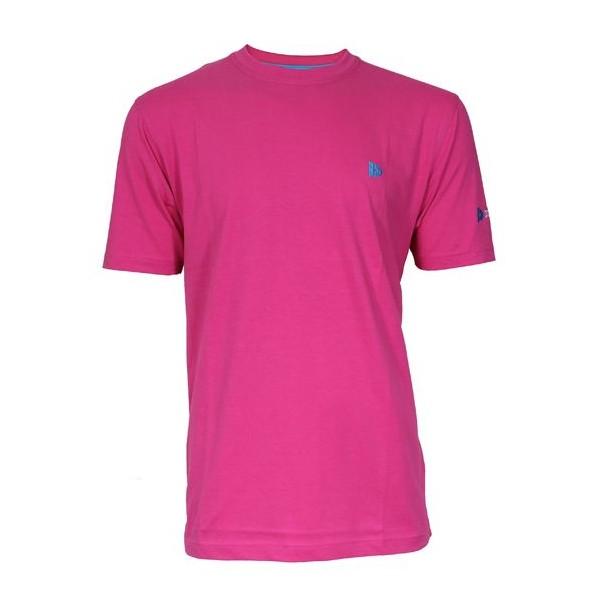 Donnay T shirt Linear heren donkerroze maat S