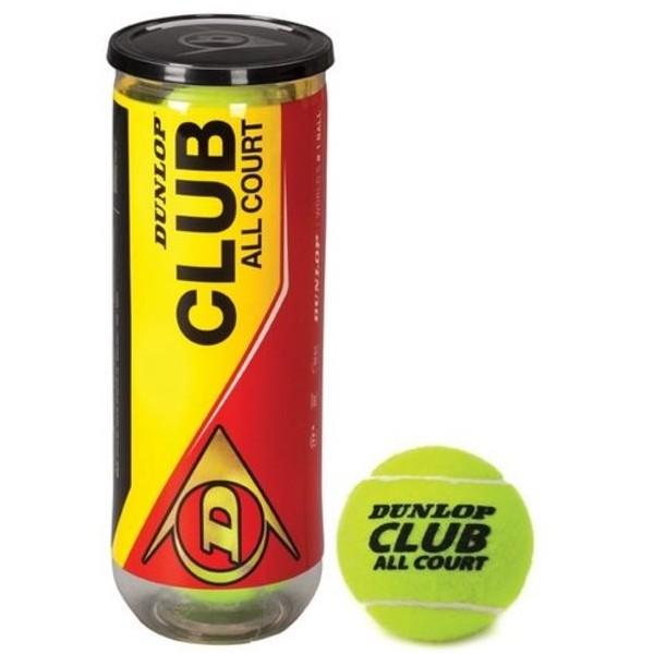 Dunlop Tennisballen Club geel 3 stuks