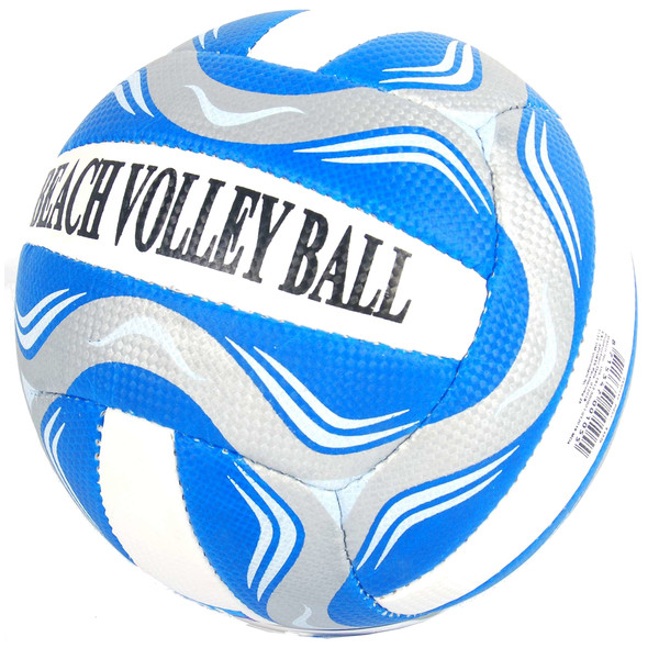 E&L Sports beachvolleybal blauw/wit maat 5