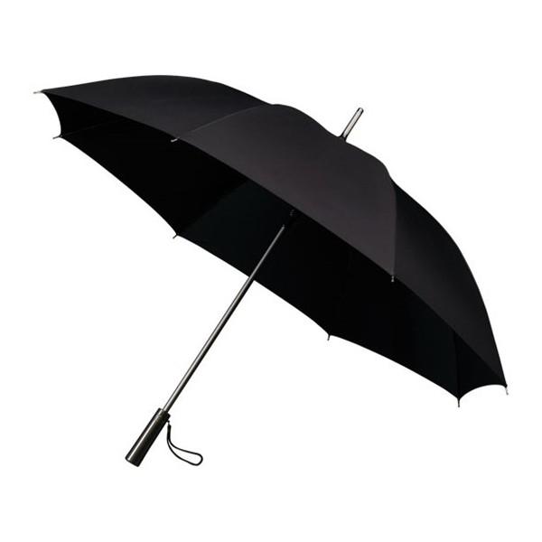 Falcone, Golfparaplu Automaat Titanium Look (zwart)