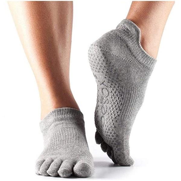Fitness Mad anti slip yogasokken grijs maat S