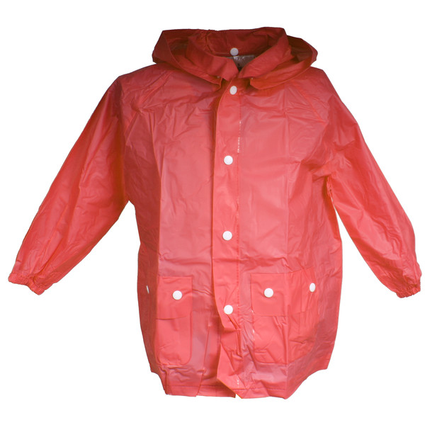 Free and Easy regenponcho junior rood maat L