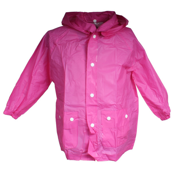 Free and Easy regenponcho junior roze maat L