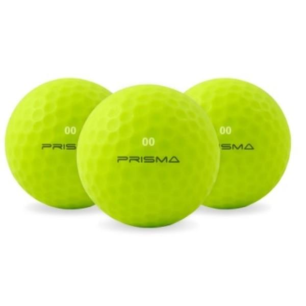 Masters Prisma Flouro Matt TI Golf Balls (Bag of 12) Lime