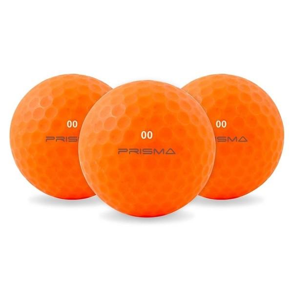 Masters Prisma Flouro Matt TI Golf Balls (Bag of 12) Orange