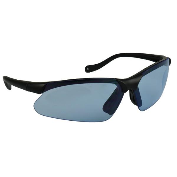Elite bril met etui (blauw, smoke & blank glas)