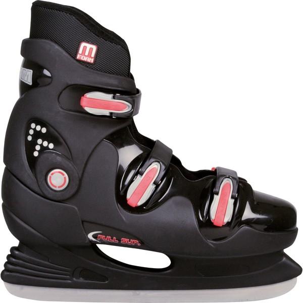 Nijdam IJshockeyschaats Hardboot Zwart-Rood