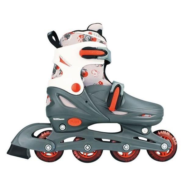 Nijdam 52QM 3in1 Inline Skates Quad Grijs-Wit Maat 34-37