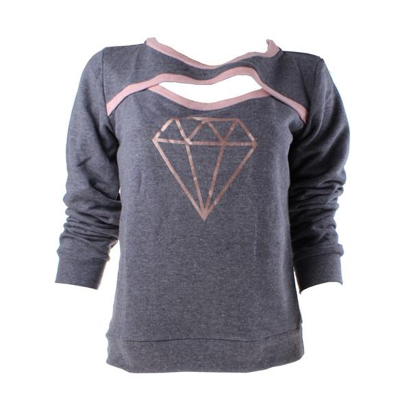 Papillon sweater met lange mouwen dames grijs maat XS