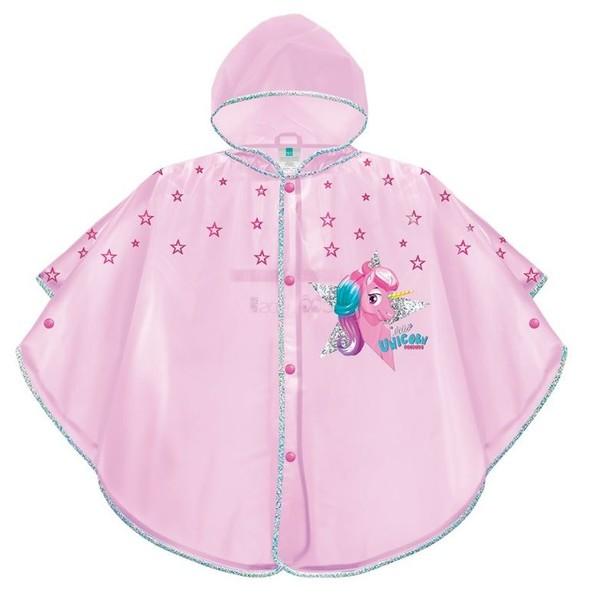 Perletti Cool Kids kinderponcho roze meisjes maat 98-116