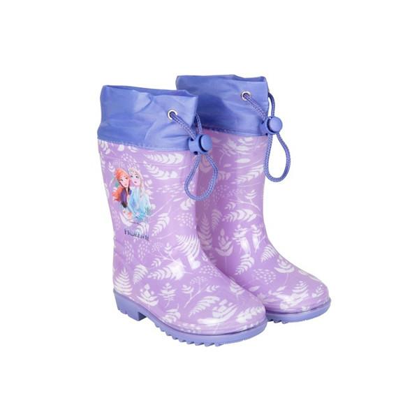Perletti regenlaarzen Frozen 2 junior rubber paars /23