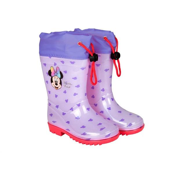 Perletti regenlaarzen Minnie Mouse junior rubber paars /23