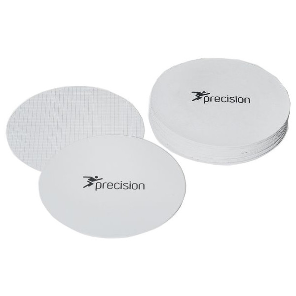 Precision Large Round Rubber Marker Discs White (Set of 20)
