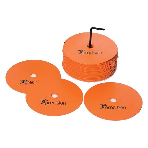 Precision Medium Round Rubber Marker Discs Orange (Set of 20)