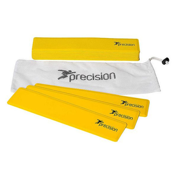 Precision Rectangular Shaped Rubber Markers Yellow (Set of 15)
