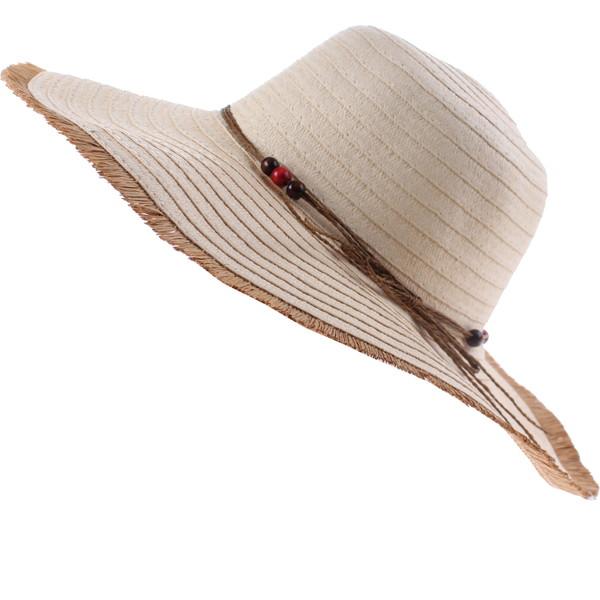 Pro Beach strohoed dames beige 42 cm