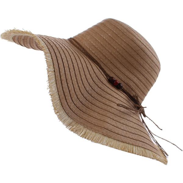 Pro Beach strohoed dames bruin 42 cm