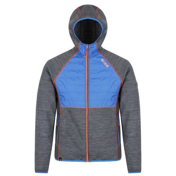Regatta Hybrid Rocknell fleecevest heren grijs-blauw maat XL