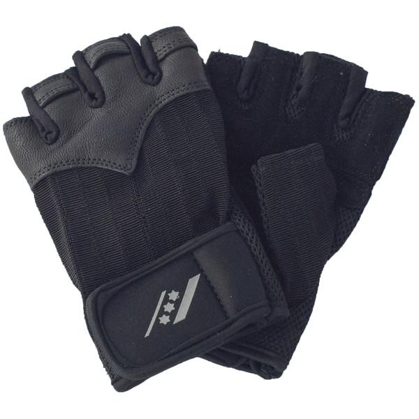 Rucanor fitness handschoenen unisex zwart maat 9-10