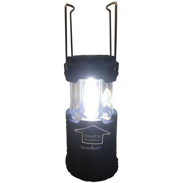 Summit inklapbare campinglamp zwart 12,5/18,5 cm
