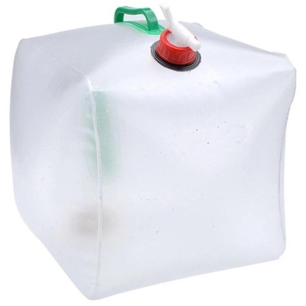 Summit water jerrycan met kraan transparant 15 liter
