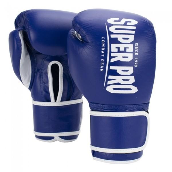 Super Pro Combat Gear Winner bokshandschoenen blauw 0oz