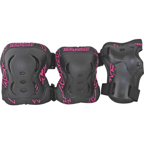 Tempish beschermset FID dames zwart-roze maat S