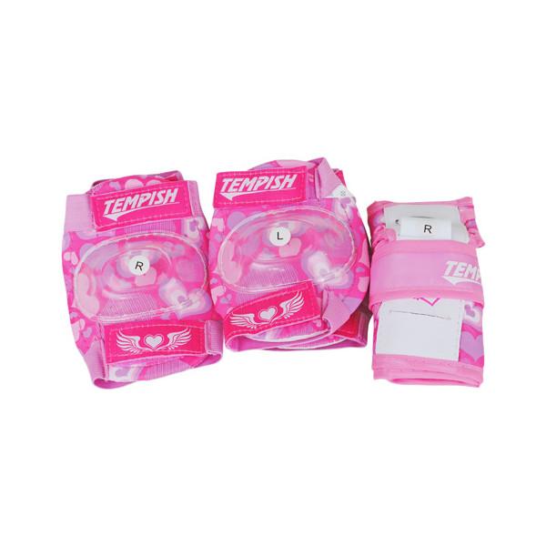 Tempish beschermset Meex meisjes roze maat S 6 delig