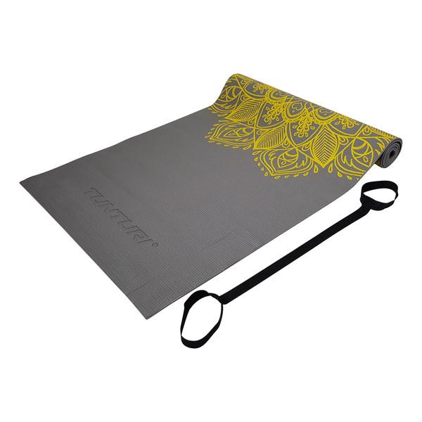 Tunturi PVC Yogamat 4mm Anthracite With Print